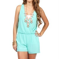 Mint Deep V Neck Romper