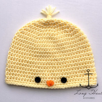 Baby Chick Hat, Crochet, Easter Hat, Photo Prop, Pastel Color Hat, Crochet Chick Beanie
