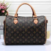 Louis Vuitton LV Women Shopping Leather Multicolor Tote Handbag Shoulder Bag