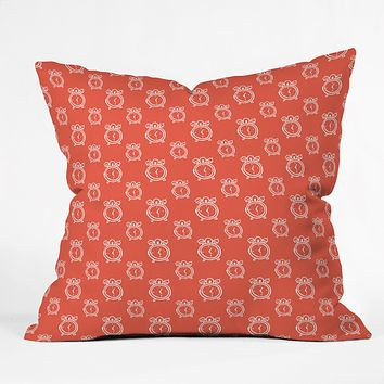 Allyson Johnson Alarm Clocks Throw Pillow