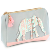 Tribal Print Elephant Pouch
