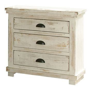 Willow Casual Nightstand Distressed White