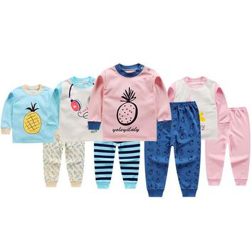 Newborn Baby Boy Girls Clothes Kids Pajamas Sets Children Cotton Baby Girl Clothing Sets Baby Boy Sets Ropa Bebes Suit Menino