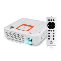 Smart Mini Projector, Built-in Android Computer, 1080p Support, Bluetooth, Wi-Fi, USB/SD Readers, Dual Core, Headphone Jack, Built-in Memory, Speakers, Air-Mouse, Touchpad, Projects up to 120''