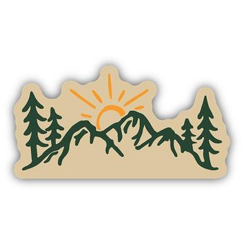 Sun Over Mountains Sticker