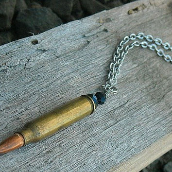 Bullet Necklace Bullet Casing Necklace Bullet by InkandRoses13