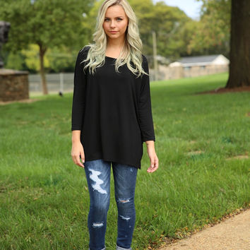 Piko - Top 3/4 sleeve - Black