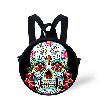 Tattoo Pattern Small Crossbody Bag Vintage Skull Coin Purse Women Handbags Woman Messenger Shoulder Bags Lady Canvas Bolos Pack