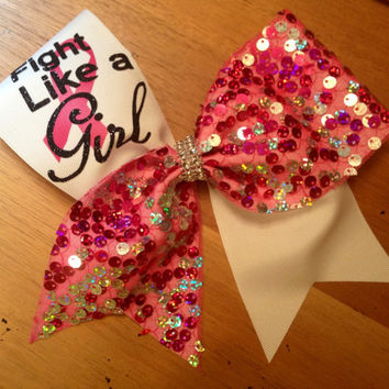 Breast cancer cheer bow , awareness cheer bow , cheer bow , cheerbow , pink cheer bow , Bella bows , cheerleader