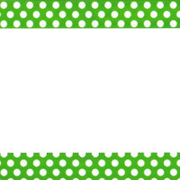 Polka Dots Green Plastic License Plate Frame