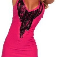 Slimming Sleeveless V Neck Sequin Fitted Evening Clubwear Party Mini Dress S M L