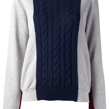 MSGM cable knit panel jumper
