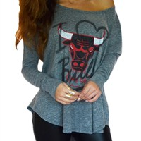 Chicago Bulls Off Shoulder Three Pointer Tri-blend