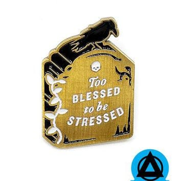 Blessed Tombstone Pin