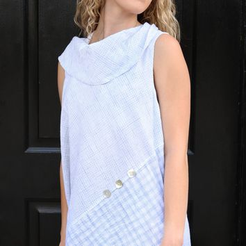 Sleeveless Cowl Shirt - Lake Mix by Habitat Clothes to Live in