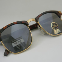 Vintage Deadstock CLUBMASTER Sunglasses TORTISE with MIRROR Lenses