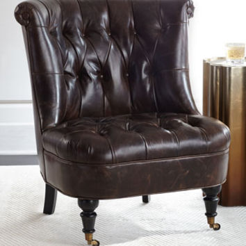 Neave Tufted-Leather Chair
