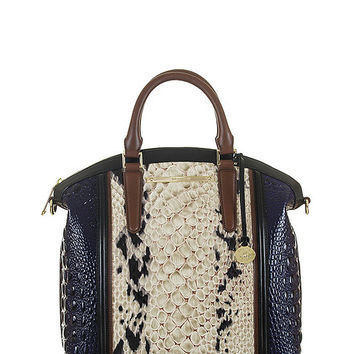 Brahmin Crème Carlisle Collection Large Duxbury Satchel | Dillards