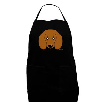 Cute Doxie Dachshund Dog Dark Adult Apron by TooLoud