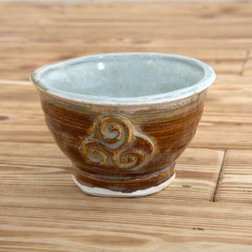 Handmade Ceramic Bowl Made In Ireland Celtic Bowl Celtic Pottery Dessert Bowl Cereal Bowl Soup Bowl Tableware Brown Bowl Housewarming Gift