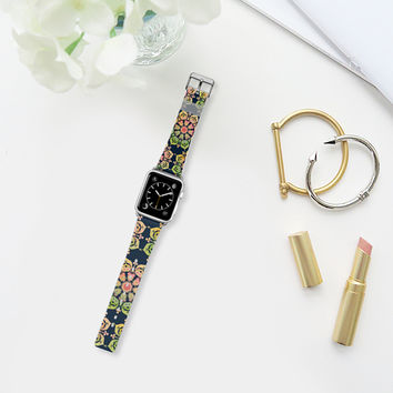 Spring Flower on indigo blue Apple Watch Band (38mm) by Heaven Seven | Casetify