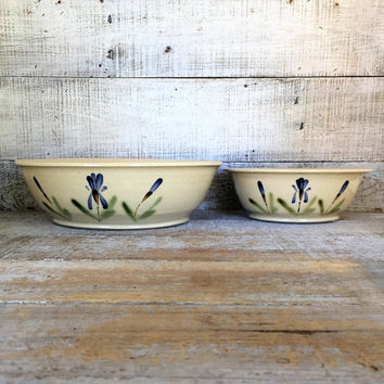 Serving Bowl Set Nesting Serving Bowl Set of 2 Ceramic Bowls Pottery Mixing Bowl Studio Pottery Ceramic Handmade Serving Set Farmhouse Chic