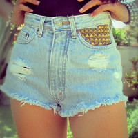 High waisted Cut off jean shorts by Jeansonly on etsy