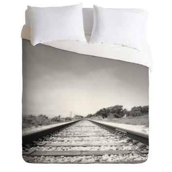 Bree Madden Down The Tracks Duvet Cover