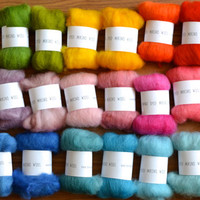 needle felter's palette - merino wool roving - 30 colours