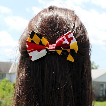 Maryland Flag / Hair Bow