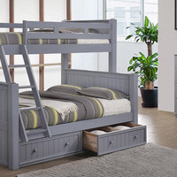 Moreno Grey Twin over Full Beadboard Bunk Bed