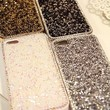 Deluxe Elegant Shiny Bling Gold Diamond Crystal Case Cover For Apple iPhone Samsung Galaxy Mobile Smart Phones (iPhone 5 5G 5S, White)