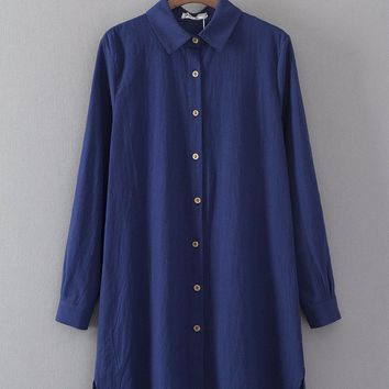 Cotton Linen Vintage Women's Fashion Shirt [8542261831]