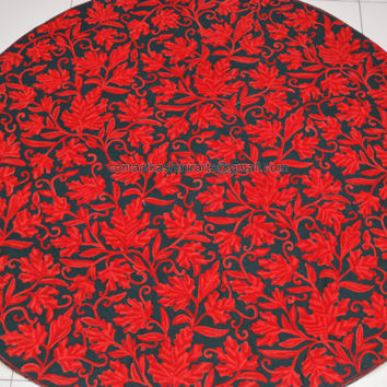 CIJ Sale/Black Red Pure Woolen Rug/Wall Hanging/Tapestry/Circular/Square/Rectangle/Oval/5 feet x 3 feet/2 feet/6 feet x 4 feet/7 x 5 feet