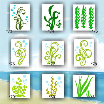 SEAWEED COLLECTION vinyl decals -  #73-81 - custom car window stickers