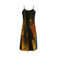 Seattle Space Needle Three Stripes Slip Dress | ID: D288561