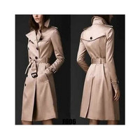 Fashion Autumn Women Slim Button Coat Windbreaker a13028