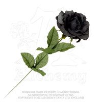 Alchemy Gothic Black Imitation Rose Flower