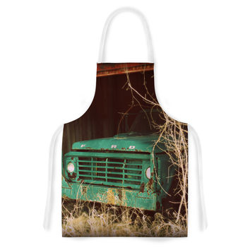 "Angie Turner ""Ford"" Teal Car Artistic Apron"