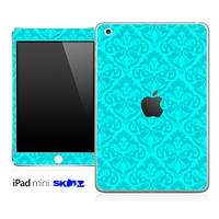 Turquoise and Subtle Delicate Pattern Skin for the iPad Mini or Other iPad Versions