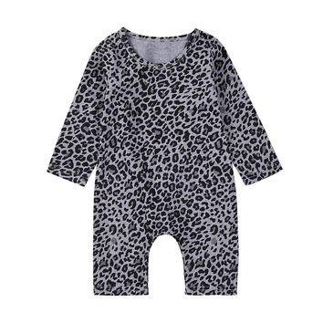Baby rompers Autumn Toddler Newborn Baby Boys Girls Leopard Print Rompers Jumpsuit Outfits baby Clothes drop shipping