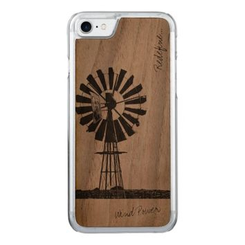 Wind Pump Power Redefine IPhone 8/7 Wooden Case