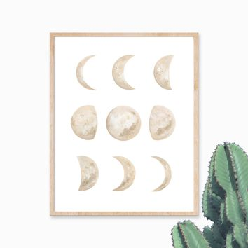 Katelyn Morse Moon Phases Art Print 11x14