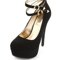 DOUBLE ANKLE STRAP PLATFORM PUMP