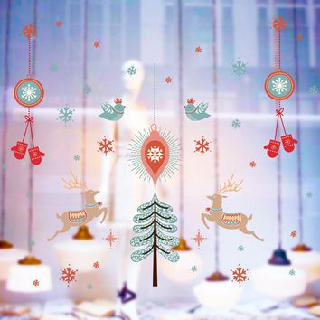 christmas decorations wall stickers home decor