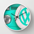 VW Camper Van Wall Clock by Alice Gosling