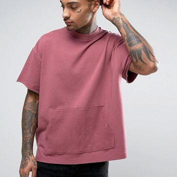 ASOS Oversized Short Sleeve Sweatshirt at asos.com