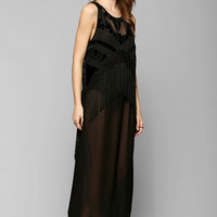 ARTS THREAD X UO Charlotte Fringe Maxi Dress - Urban Outfitters
