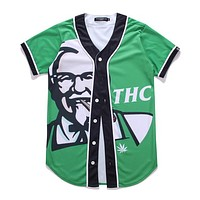 THC Baseball Button Up Shirt