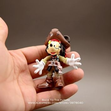 Disney Mickey Mouse pirate 7.5cm mini doll Action Figure Posture Anime Decoration Collection Figurine Toy model children gift
